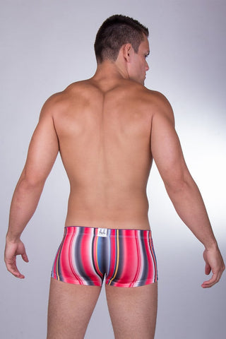 Manview Red Neon Stripe Trunk