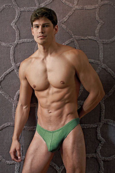Contour Army-Green Luxe Jersey Thong - CheapUndies.com