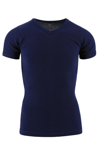 Jocko Navy Ribbed V-Neck Shirt