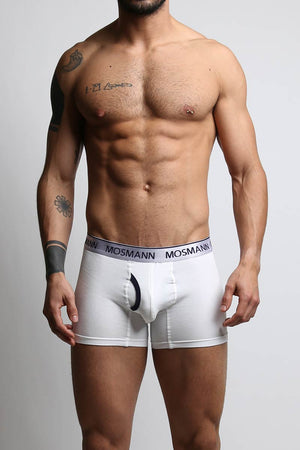 2-Pack Mosmann White & Navy Boxer Brief
