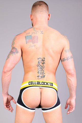 Timoteo Black Lace-Up Renegade Jock Trunk
