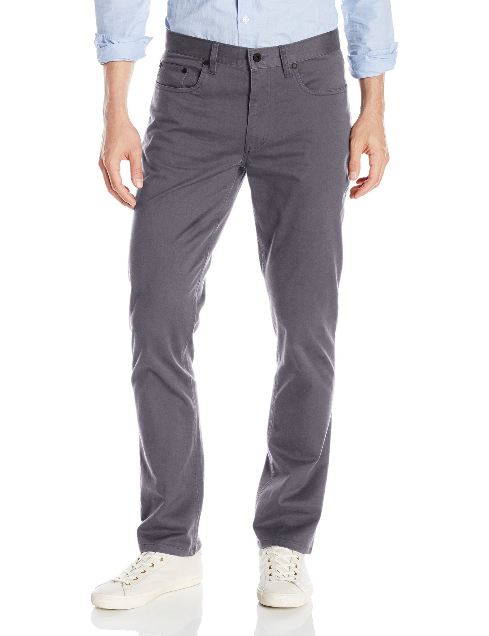 Kenneth Cole REACTION Hematite 5 Pocket Pant