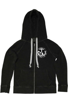 Rxmance Unisex Phantom Black Circle Ten Zip Hoody