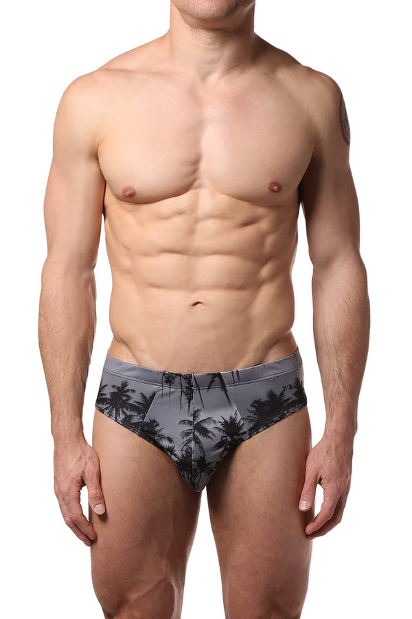 2(X)IST Black/White Sunset Palm Trees Graphic Modal Bikini - CheapUndies.com