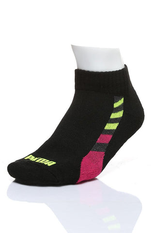 Puma Black Stripe Qtr Crew 3-Pack Socks
