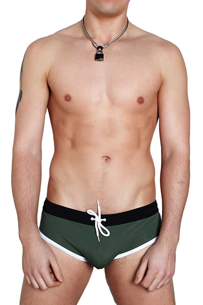 Timoteo Army Malibu Swim Brief