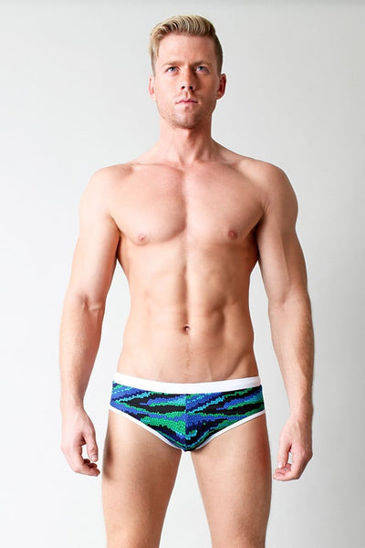 Timoteo Green Convertible Swim Brief