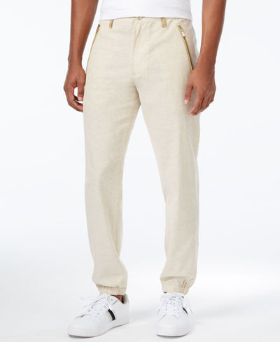 Sean John Men's Lightweight Linen Joggers - CheapUndies.com