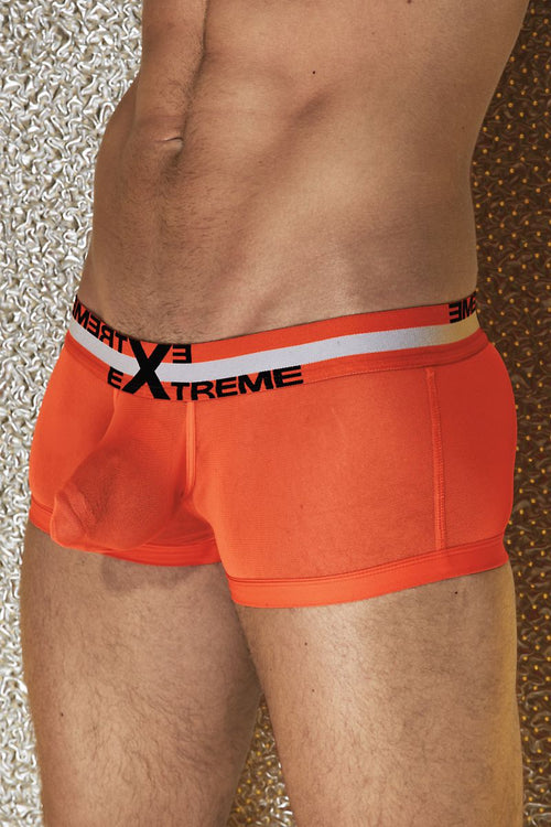 Extreme Collection Orange C-Ring Mesh Trunk - CheapUndies.com