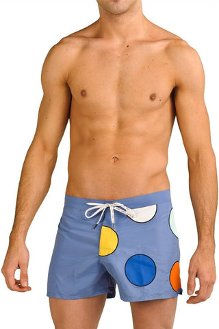 Baskit Blue Dots Swim Trunk