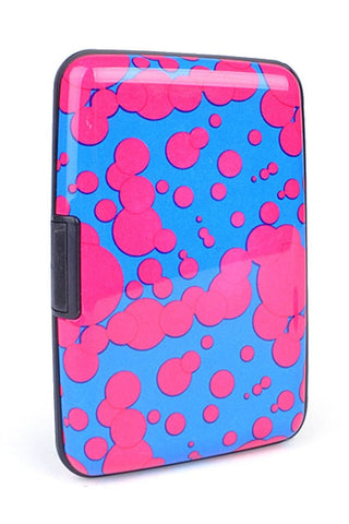 Card Guard Pink Splat Aluminum Compact Card Holder