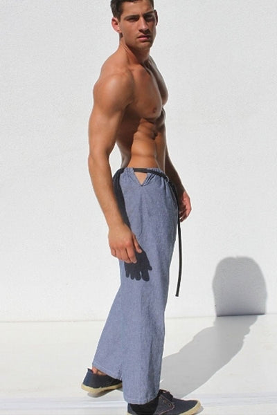 Rufskin Blue Chambray Rede Straight Leg Pants
