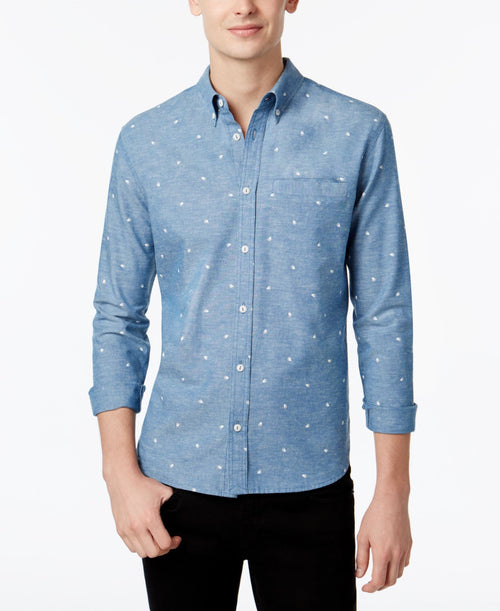 WHT SPACE by Shaun White Men's Printed Chambray Shirt - CheapUndies.com
