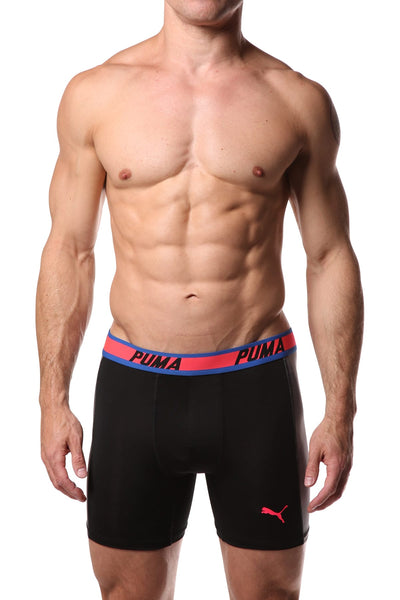 PUMA Light Black & Grey Solid Side Panel Boxer Brief - CheapUndies.com