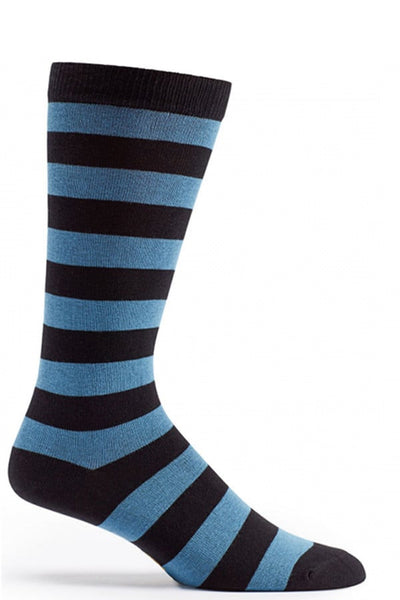 Ozone Blue Jail Bird Calf Sock