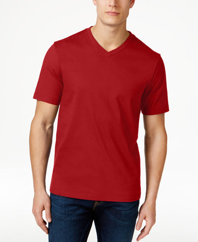 Club Room Fire Ticho Cotton V-Neck T-Shirt - CheapUndies.com