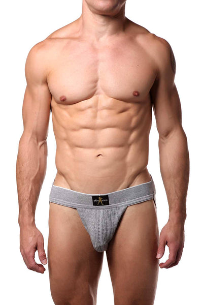 Skivvies Grey Swimmer Knit Jock - CheapUndies.com