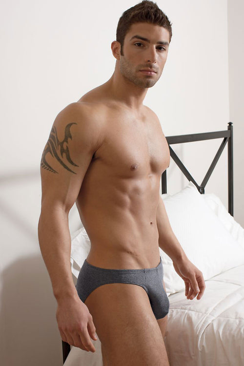 Contour Charcoal Dobby Bikini Brief - CheapUndies.com