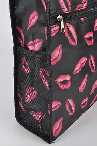 Lip Print Tote Bag