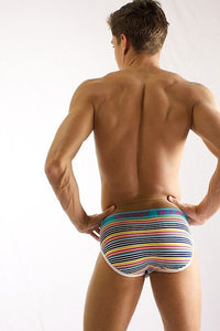 2(X)IST Tropical Stripe Print No-Show Brief