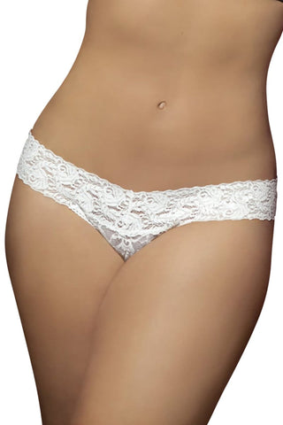 Seven 'Til Midnight White Lace Thong