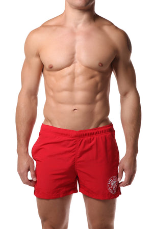 Datch Solid Red Gladiator Swim Short