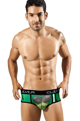 Clever Green Cool Frog Brief