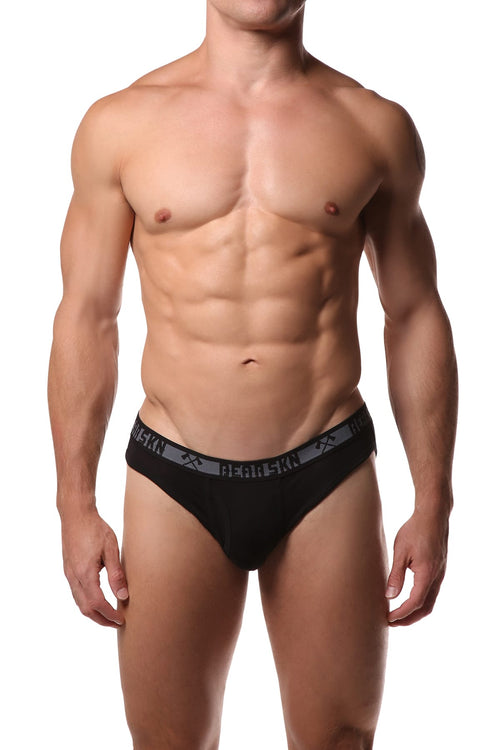 Bear Skn Black Standard Issue Bamboo Brief - CheapUndies.com