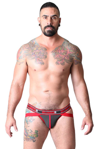 CellBlock 13 Black & Red Ninja Neoprene Rubber Jock