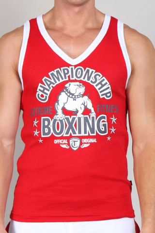 Timoteo Red Champion V-Neck Tank Top