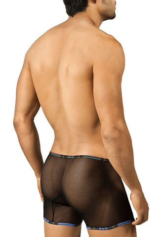 Candyman Black Mesh Plaid Boxer