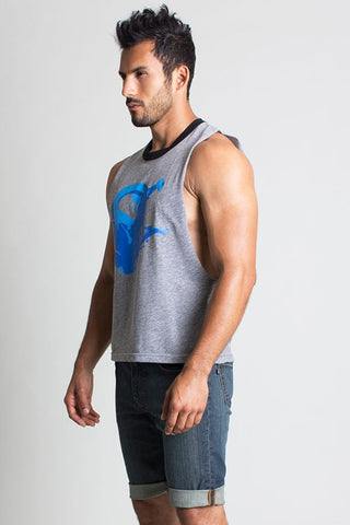 Timoteo Grey Butcher Tank Top