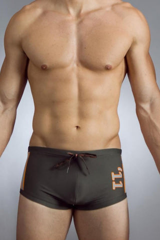 Baskit Army Green Lucky 11 Swim Trunk