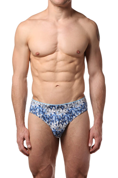 2(X)IST Blue Mosaic Sliq Micro Brief