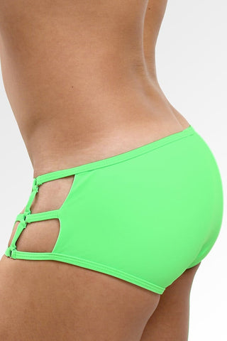 Gian Gianni Neon Green Grid Swim Brief