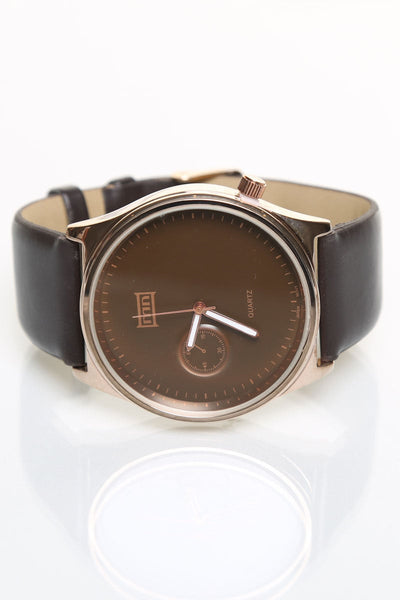 Mark Naimer Brown XS Fashion Leather Watch