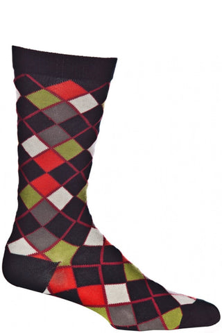 Ozone Black Block Arcade Calf Sock