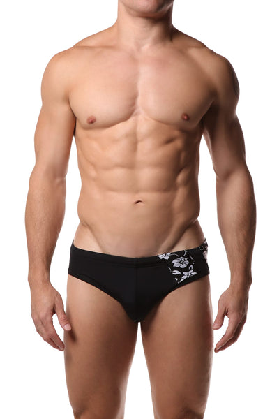 Freedom Reigns Black & Hawaiian Applique Swimwear - CheapUndies.com