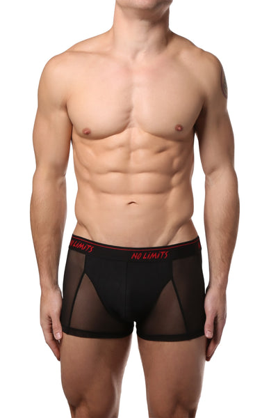 No Limits Black Mesh Boxer Brief - CheapUndies.com