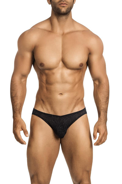 Vuthy Black Glitter Bikini Brief