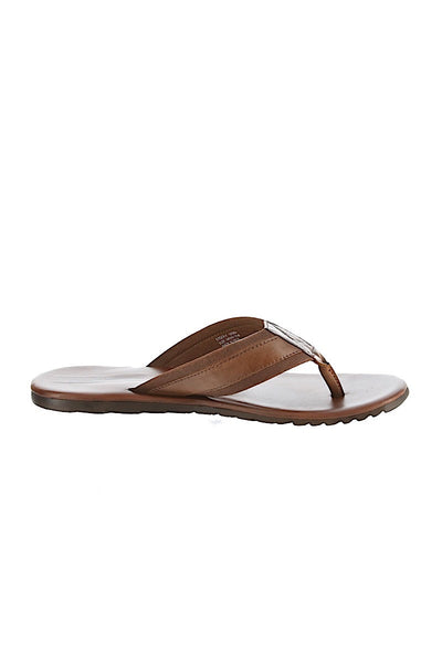 GBX Brown Leather & Textile Upper Sandal