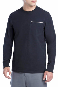 2(X)IST Black Classic Zip-Pocket Sweatshirt