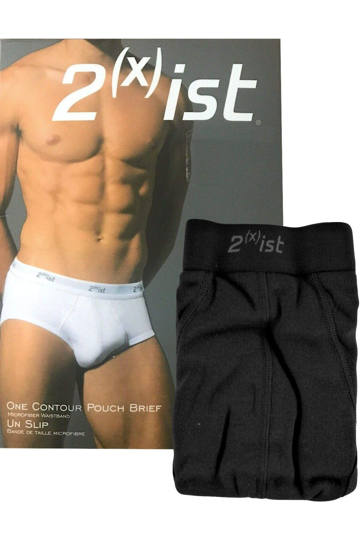 2(X)IST Black Contour Pouch Brief