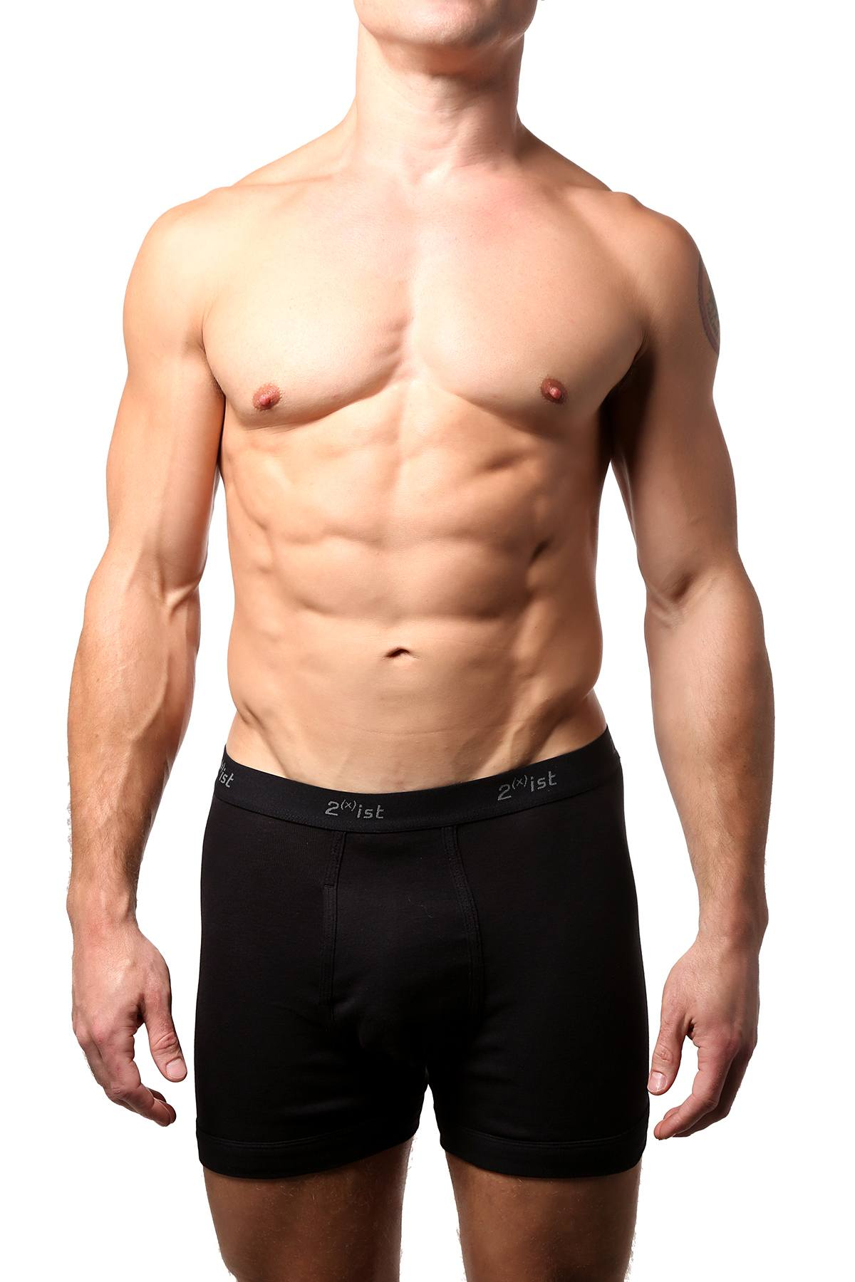 2(X)IST Black Essential Cotton Boxer Brief