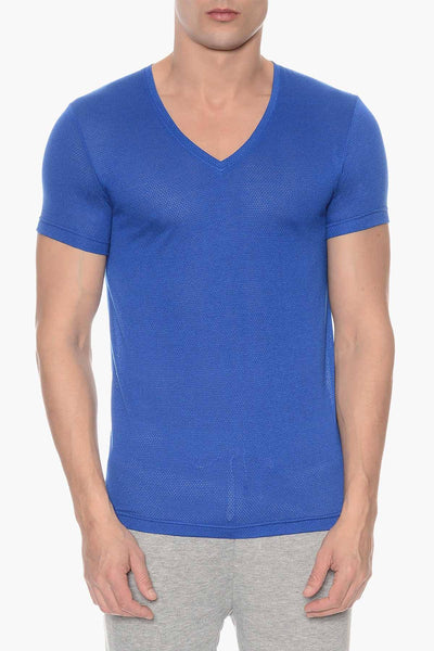 2(X)IST Cobalt Mesh V-Neck Tee - CheapUndies.com