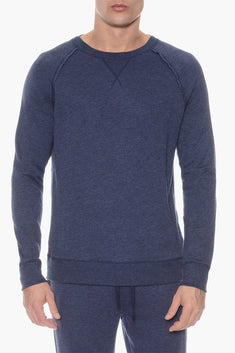 2(X)IST Denim Heather French Terry Crewneck Sweatshirt
