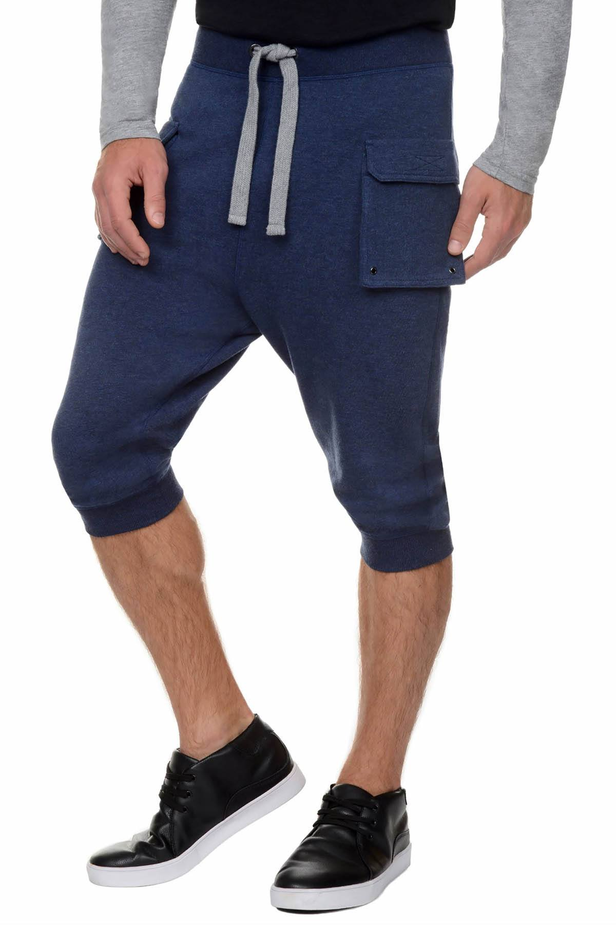 2(X)IST Denim-Heather French Terry Cropped Cargo Pant