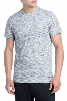 2(X)IST Grey-Heather Lounge Short-Sleeve Cotton T-Shirt