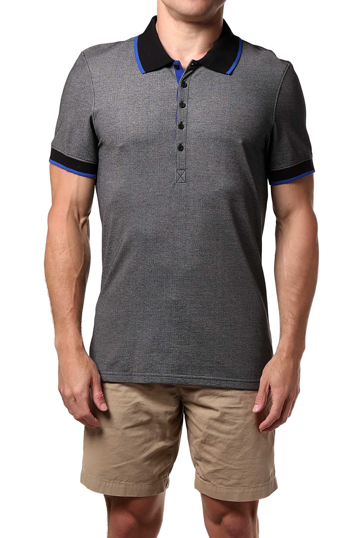 2(X)IST Grey Tipped Polo Shirt