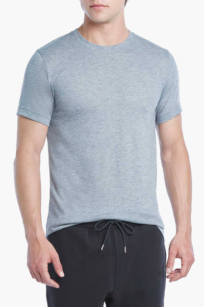 2(X)IST Heather Grey Core Mesh Crewneck Tee - CheapUndies.com
